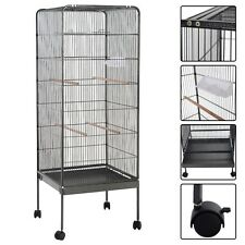"58"" Large Play Top Parrot Bird Cage Pet Supplies w/Perch Stand 2 Doors Flattop"