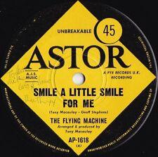 Flying Machine ORIG OZ 45 Smile a little smile for me VG+ '69 Astor Psyche Pop