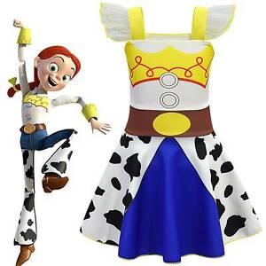 Kids Girls Cosplay Toy Story Jessie Dress Fancy Dress Up Costume Party