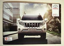Toyota. Land cruiser. août 2015 sales brochure