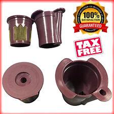 Reusable 2 in 1 Keurig K Cups Coffee Filter Vue Brewers Machine Bpa Free Adapter