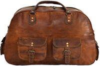Men's Brown Vintage Genuine Leather Cowhide Travel Luggage Duffle Gym Bags Tote*