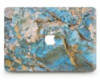 Blue Granite Marble Cover Case For Apple Macbook Pro Retina Air 11 12 13 15 2018