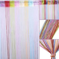 String Window Curtain Colorful Room Door Divider Scarf Valances Panel Decor YI