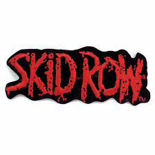 "Skid Row Patch Name Embroidered Vintage 80's band Red on Black 5"" X 2"""