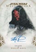 Star Wars Masterworks 2018, Ray Park 'Darth Maul' A-RP Autograph Card #02/25