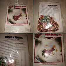 Dimensions Counted Cross Stitch Kit Star Bright Angel Xmas Waste Canvas Design