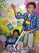 Alan & Ryan African American AA Happy Family Barbie Ken Tommy Doll Dad and Son