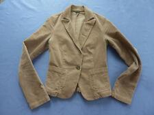 BENETTON Feincord Blazer Jacke Gr. 34 / S beige