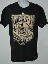 Lucky 13, T Shirt, 20 Years Shirt, Black, Small, Screened - Skeletons