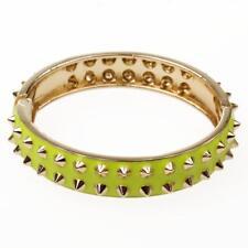 Fahion Cuff Bracelets for Women Yellow Enamel Studs Open Ended Hit Summer
