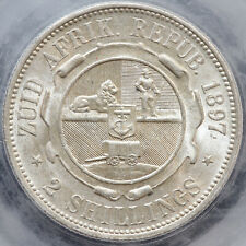 More details for south africa. florin (two shillings), 1897. cgs variety 01. cgs 80.