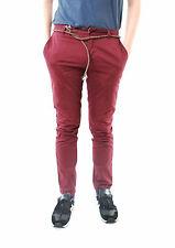 Eleven Paris Hombre Chaplin informal Slim Pantalón 13S1PA02 Borgoña Talla 31 BCF65