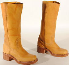 Frye Womens Campus 14L Leather Boots #77050 Size 5.5 M Banana USA $298  Box #47