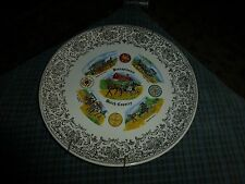 """Vintage Pennsylvania Dutch Country Wall Hanging Plate Collector 9"""" Usa Vg"""