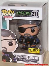 FUNKO POP TV DC ARROW TV SHOW DEATHSTROKE UNMASKED #211 HT Exc Figure IN STOCK