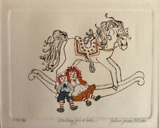 Raggedy Ann and Andy Ink & Watercolor Signed 148/200 JoAnn Jacks Cataldo Framed