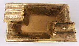 Mid Century Modern STANGL POTTERY Ashtray Granada Gold #1953 Flaw