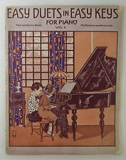 EASY DUETS IN EASY KEYS for Piano Vol II Music Book 1st & 2nd Grade 10 Pieces