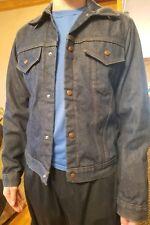 Vintage Denim Jacket Oshkosh Chore Jacket Work Barn Farm red Lined Men Jean coat