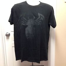 VINTAGE LARGE MARVEL SPIDERMAN BLACK ON BLACK T SHIRT