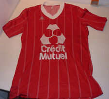 vintage MAILLOT le coq sportif A.S as MULHOUSE alsace FOOTBALL credit mutuel FCM