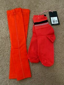 Rapha Sock Shoe Cover and Arm Warmer, Orange, Small