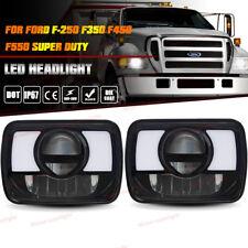 DOT Black LED Projector Headlight w/DRL For Ford F250 F350 F450 F550 Super Duty