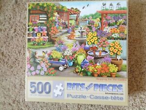 Bits & Pieces 500 Piece 18''x24'' Shopping For The Garden Jigsaw Puzzle