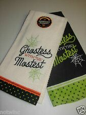 2pk Happy Halloween Midnight Market Kitchen Dish Towel Ghostess with the Mostest