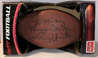 JOHNNY UNITAS AUTOGRAPHED SIGNED FULL SIZE VINTAGE FOOTBALL wCOA BALTIMORE COLTS