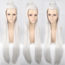 Long Straight Chinese classical Ponytail Cosplay party Wig heat resistant Z89