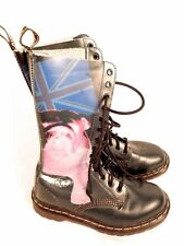 RARE! Dr. Martens Women's 1B99 Bulldog Union Jack MIE Blue US 8 EU 39 UK 6