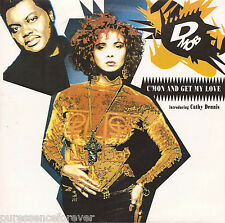 """D MOB int CATHY DENNIS - C'Mon And Get My Love (UK 2 Tk 1989 7"""" Single PS)"""