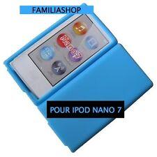 Housse etui coque silicone bleu clair pour iPod Nano 7 7G + 1 Film de protection