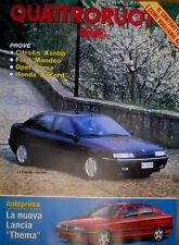 Quattroruote 451 1993 Nuova Lancia Thema. Prove Honda Accord, Opel Corsa [Q102]