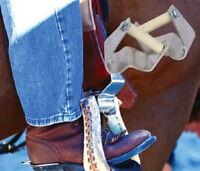 "CASHEL CRUSADER WESTERN HORSE SADDLE STIRRUPS TURNER 3"" HORSE TACK"