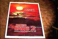 Jaws 2 Advance Orig Movie Poster 1978 Spielberg Scarce Style