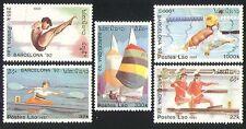 Laos 1992 Deportes/Kayak/canotaje/Yates 5v Set b8444