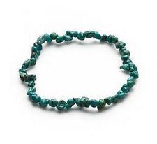 "Chalk Turquoise Bracelets Nugget Pebble Bead Jewelry 7"" Lot of 4"