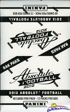 2012 Panini Absolute Football HUGE Factory Sealed Jumbo Rack Box-480 Cards!