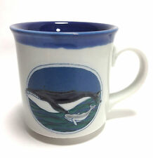 HumpBack Whale And Baby Mug Cup - Blue White