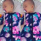 Newborn Kids Baby Girls Infant Floral Romper Jumpsuit Bodysuit Clothes Outfits