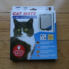 Cat Mate Pre-Owned (open box never used) Cat Flap Door White 4 Way Locking Flap