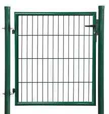 Gartenpforte, Einzeltor, Zauntor, Metall grün 750x1000 mm, kompl. mit Zubehör