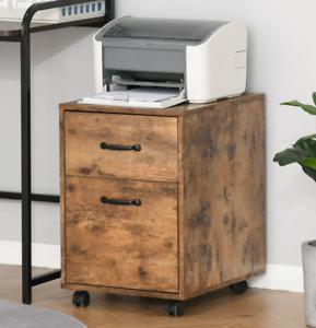 Industrial Filing Cabinet Rustic Office Unit Vintage Style Storage Drawer Wheels