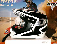 One Industries casco gamma Cross casco enduro quad ktm kx-F negro blanco Thor XL