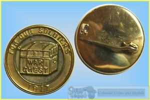 """WWI 1917 Gold Badge, Funding Raising, - War Chest - """" FOR OUR SOLDIERS """""""