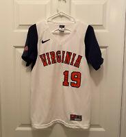 Virginia Cavaliers UVA Women's Softball Game Worn Nike White #19 Jersey Small