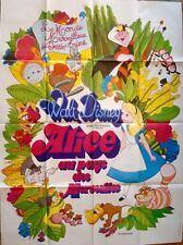 ALICE IN WONDERLAND French Grande movie poster 47x63 WALT DISNEY R74 NM